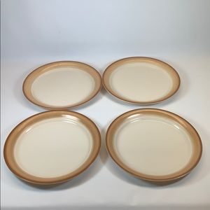 Corelle Corning Sandscape  lunch salad plates 4